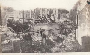 RP: War 1914-18 ; Ruins , Battle of ARRAS , France