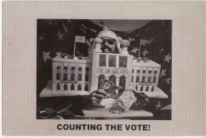 Quirky Counting the Vote humor card - money in politics - Diana's Cards RI