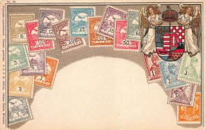 Hungary Stamps on Early Embossed Postcard, Unused, Published by Ottmar Zieher