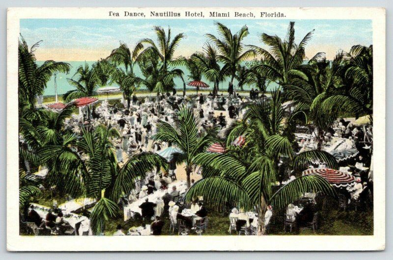 Miami Beach Florida~Nautillus Hotel~Tea Dance~Crowded Dance Floor~1925