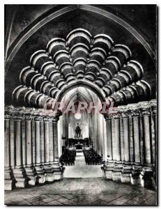 Modern Postcard Abbey Church N D Celles sur Belle remarkable Portal has Vauss...