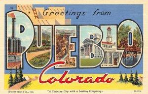 LPS23 Pueblo Colorado LARGE Big Letter Postcard Views