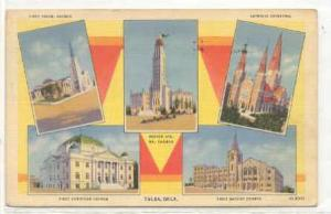 Five views of church's in Tulsa, Oklahoma, 30-40s