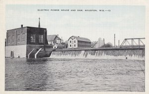 MAUSTON, Wisconsin, 1930-1940s; Electric Power House And Dam