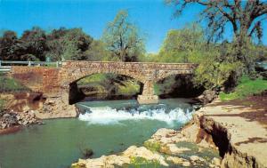 St Helena California~Old Stone Bridge Over Napa River~Silverado Trail~1960s PC