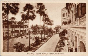 The Palm Court Raffles Hotel Singapore Unused Sarkies Bros Postcard G19