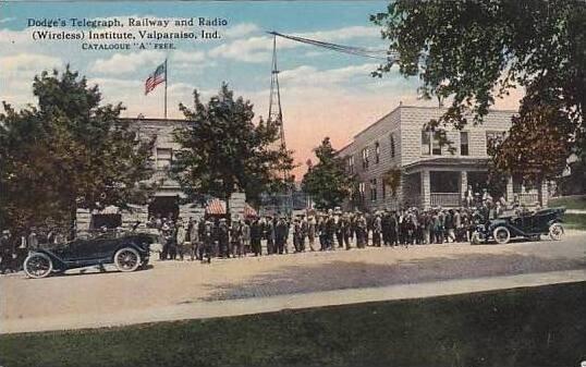 Indiana Valparaiso Dodges Telegraph Railway & Radio Wireless Institute Cu...