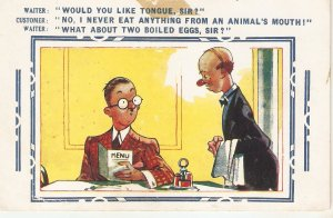 Would you like tongue, Sir...? Humorous Bamforth Comic Ser. PC # 137