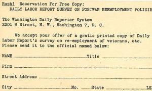 Pre-Printed U. S. Postal Card, UX27 Jefferson, 1-cent, Reply Card