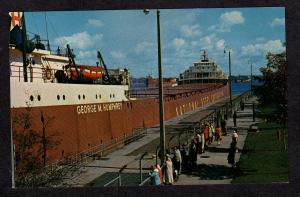 MI Sault St Marie Michigan Postcard George W Humphrey Ship National Steel Corp