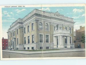 W-Border LIBRARY SCENE Erie Pennsylvania PA d6213