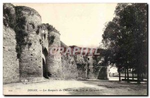 Dinan Old Postcard the ramparts of the castle and the tower of Coetquen