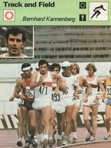 Bernhard Kannenberg Olympic Track & Field Athletics Card