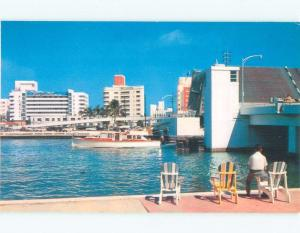 Pre-1980 CASABLANCA HOTEL BEHIND NEW 62ND STREET BRIDGE Miami Beach FL d3741