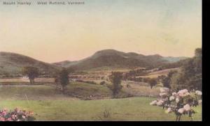Vermont West Rutland Mount Hanley Albertype