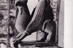 Decani Manastir Russia Griffin Bird Sculpture RPC Postcard