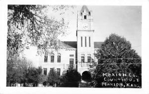 Marion Kansas Court House Real Photo Antique Postcard K29619