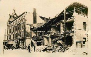 RPPC SANTA BARBARA CA Earthquake June 29 1925 Van Ness Hotel Fithian Postcard