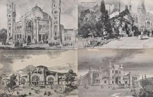 Pilade Rocco C Milano Milan Auronautica Italian Exposition 4x Antique Postcard s