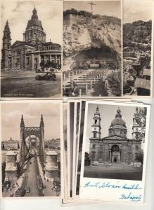 Lot 11 real photo postcards 1930s Hungary all BUDAPEST