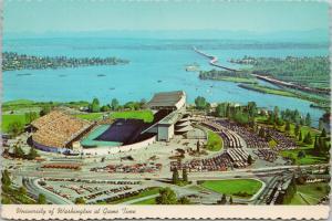 University of Washington WA Game Time Huskies Football  Postcard D57