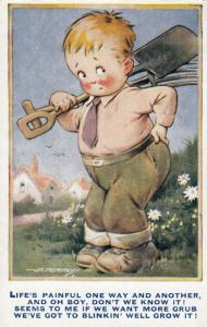 AS: D. Tempest #K82; Boy & Garden tools, 1910-30