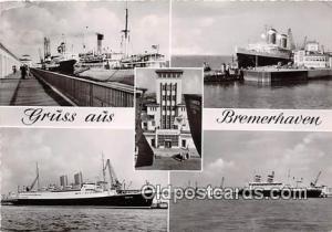 Gruss Aus Bremerhaven, Department of Navy Ship Postcard Post Card Bremerhaven...
