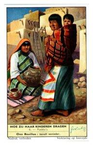 Pueblo Indian How Children are Carried Liebig Belgian Trade Card *VT28B