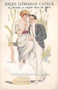 Advertising Postcard - Old Vintage Antique Sales Litinada Catala Unused