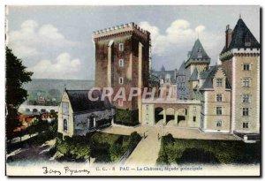 Old Postcard Pau Le Chateau Main Facade