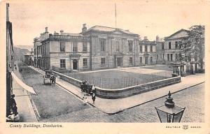 Scotland, UK Old Vintage Antique Post Card County Buildings Dumbarton 1912