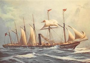Postcard S.S. Great Britain 1843 From a Painting by Keth A. Griffin