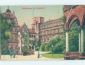 Old Postcard LARGE BUILDING Heidelberg Germany F5536