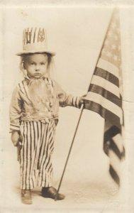 RP: COLUMBUS , Ohio, 00-10s ; Kid Uncle Sam & USA Flag