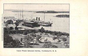 Yarmouth Nova Scotia Canada waterfront view from Grand Hotel antique pc BB1065