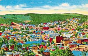 LEAD SOUTH DAKOTA~BIRDS EYE VIEW POSTCARD
