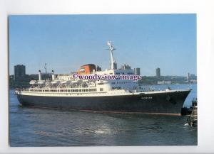 LN1544 - Holland America Liner - Veendam , built 1996 - postcard