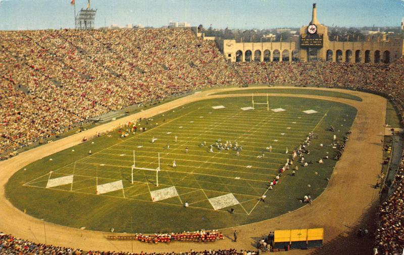 Los Angeles Memorial Coliseum, Los Angeles, California, Early  Postcard, Unused