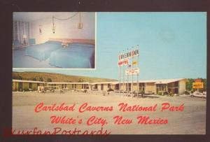 WHITE'S CITY NEW MEXICO CARLSBAD CAVERS NATIONAL PARK MOTEL OLD POSTCARD