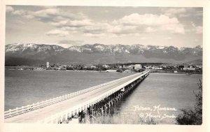 Polson Montana Bridge Scenic View Real Photo Postcard AA10078