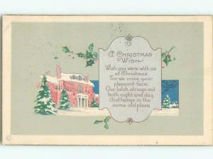 Divided-Back CHRISTMAS SCENE Great Postcard W8787