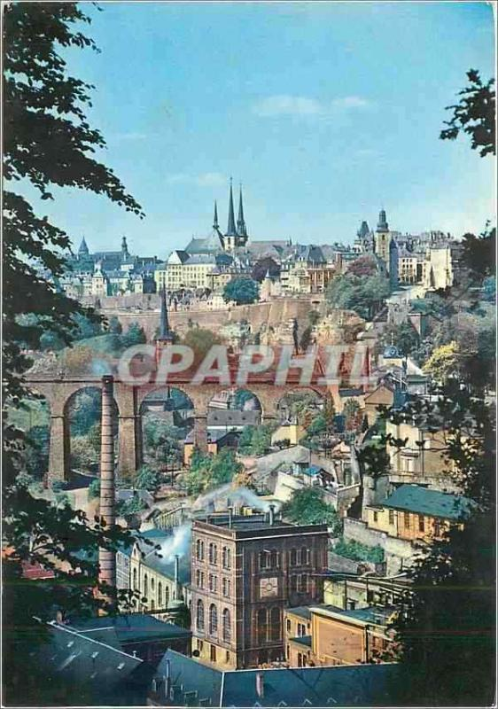 Modern Postcard Luxembourg seen picturesque of the high City