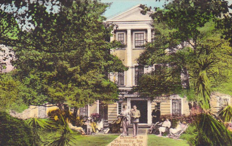 Entrance to the Holly Inn , PINEHURST , North Carolina , 00-10s