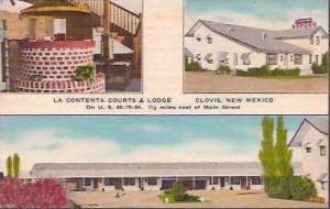NM Clovis La Contenta Courts & Lodge 1955