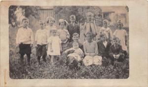 D54/ Piedmont Ohio Real Photo RPPC Postcard Harrison County Cadiz c1915 Kids