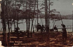 Bear Mountain New York view of swings by the lake antique pc ZA440384