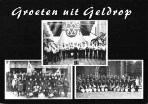 Postcard GREETINGS from Groeten uit GELDROP Holland Netherlands Groups Bands