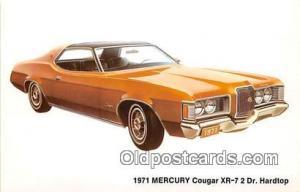 Troy, NY, USA Postcard Post Card 1971 Mercury Cougar XR7 2 Door Hardtop