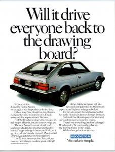 1982 Honda Accord Advertising  Print Ad N1