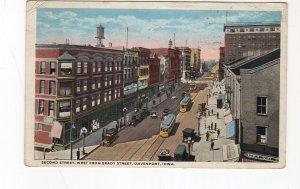 1920 postcard, 2nd Street, Davenport, Iowa